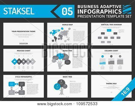 Presentation template set
