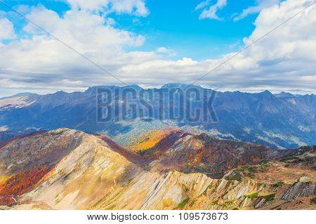 Fantastic Autumn Mountain Landscape.