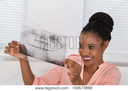 Woman Holding An Xray
