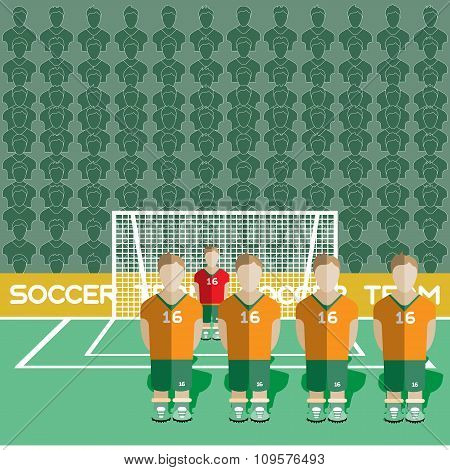 Ivory Coast Soccer Club On A Stadium