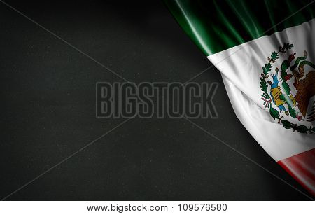 Mexican flag on blackboard