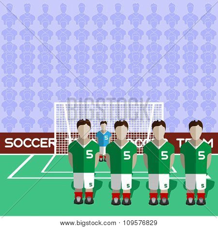 Iran Soccer Club On A Stadium
