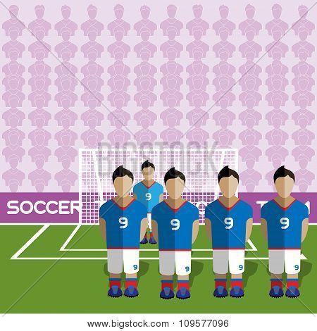 France Soccer Club On A Stadium