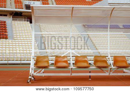 Reserve and staff bench in Rajamangala Stadium