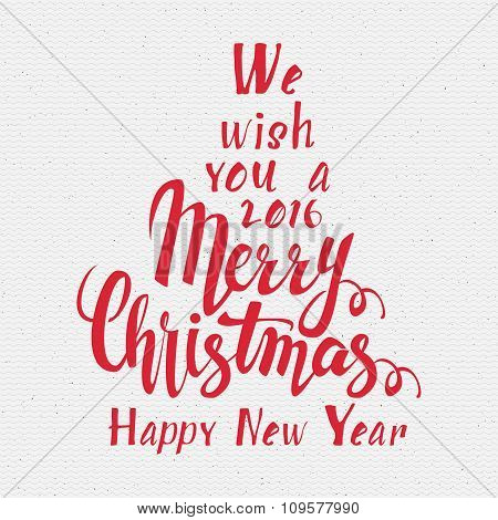 We wish you a merry christmas lettering