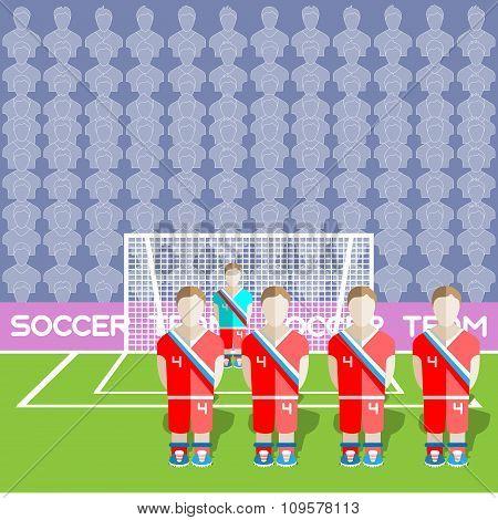 Russia Soccer Club On A Stadium