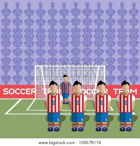 Paraguay Soccer Club On A Stadium