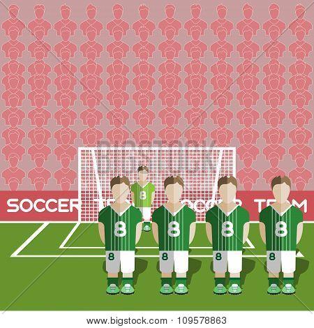 Northern Ireland Soccer Club On A Stadium