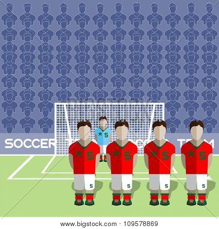 Morocco Soccer Club On A Stadium