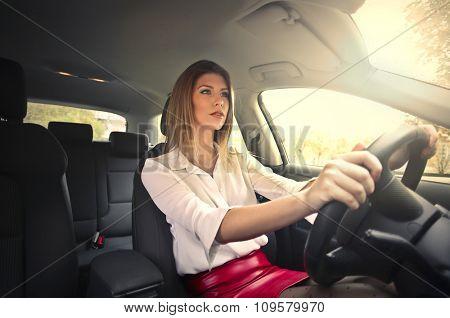 Beautiful car driver