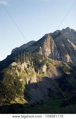 Rioseta Mountains in Pyrenees, Canfranc Valley, Aragon, Huesca, Spain.
