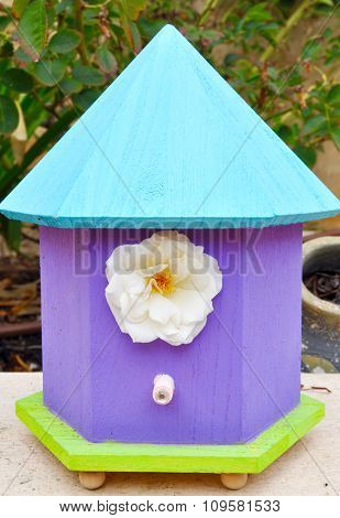 Birdhouse with Flower