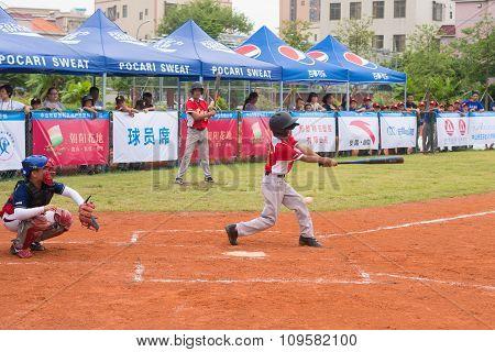 Zhongshan Panda Cup, Zhongshan, Guangdong - July 23:batter Of Team Wuxi Experimental Primary School
