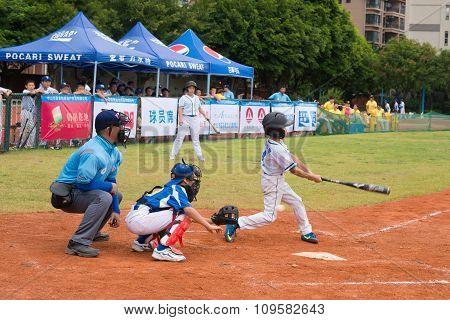 Zhongshan Panda Cup, Zhongshan, Guangdong - July 23:batter Of Team Beijing Tiantan Dongli Primary Sc