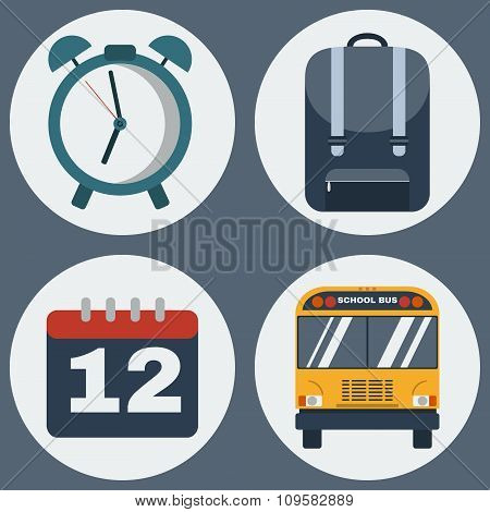 Education Objects Icons Set