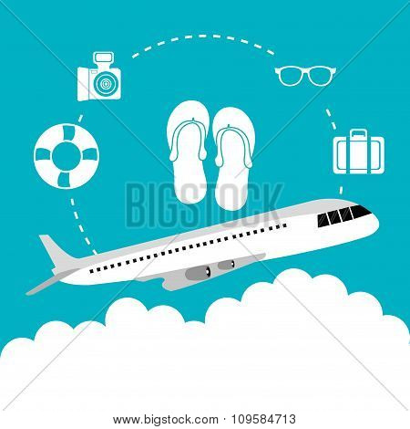 Airplane travel vacations