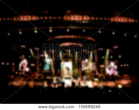 Blurred / Defocussed Abstract Background Of A Concert