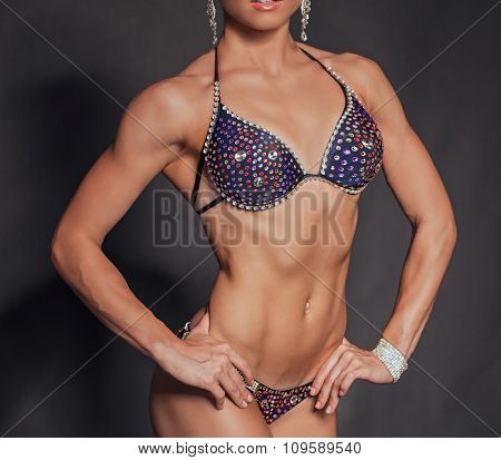 Girl with muscular body