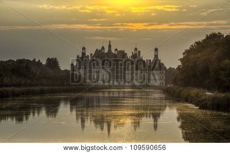 Chambord Castle At Sunset