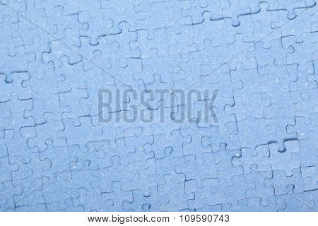 Connected Blue Puzzle Pieces Isolated