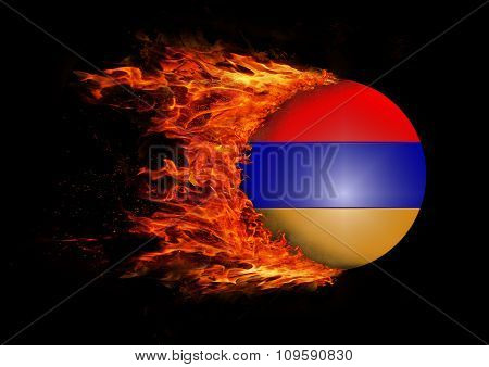 Flag With A Trail Of Fire - Armenia