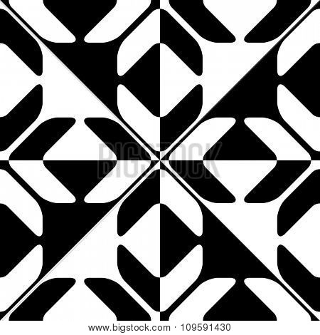 Seamless Geometric Pattern. Vector Black and White Texture