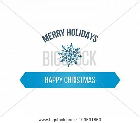 Merry Christmas Greeting Card Typography and Decorations
