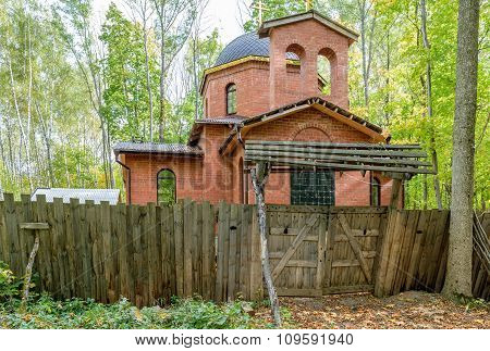 Construction Of The Chapel In Woods