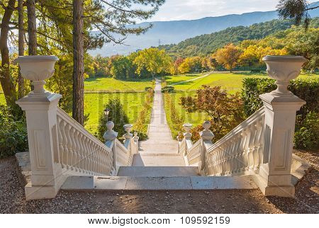 beautiful staircase in a park