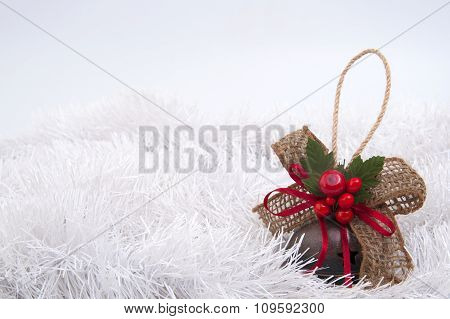 Christmas-tree Toy On A White Background Tinsel..