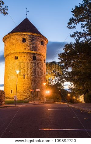 Kiek In De Kök, Medieval Fortification Tower By Night