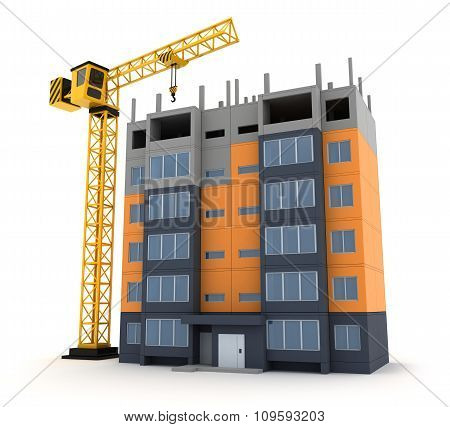 Tower Crane Building Construction