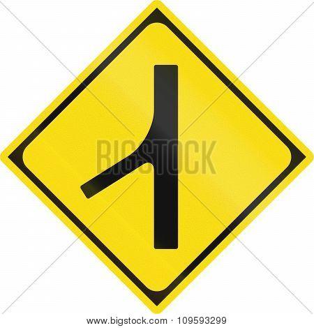 Japanese Warning Road Sign - Merging Traffic