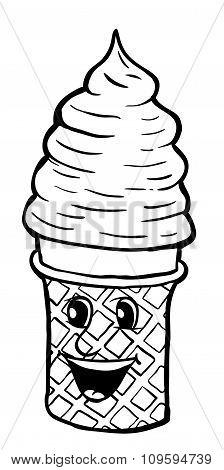 Cream Cornet With Smile