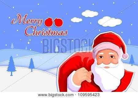Santa Claus with Christmas gift sack