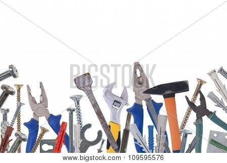 Collage Of Various Construction Tools.