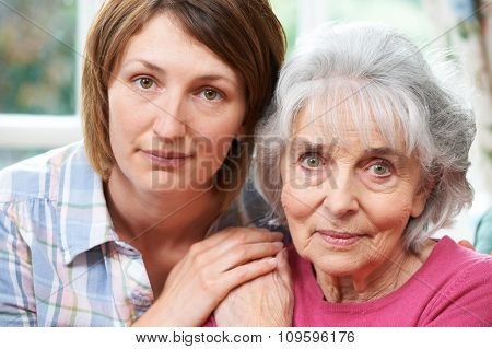 Portrait Of Senior Mother With Adult Daughter