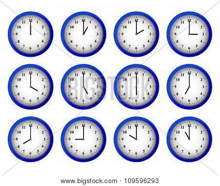 Modern Clocks Set