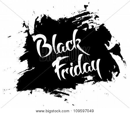 Black friday - vector handmade lettering