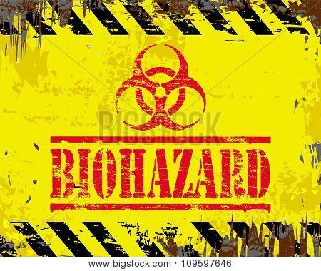 Biohazard Enamel Sign
