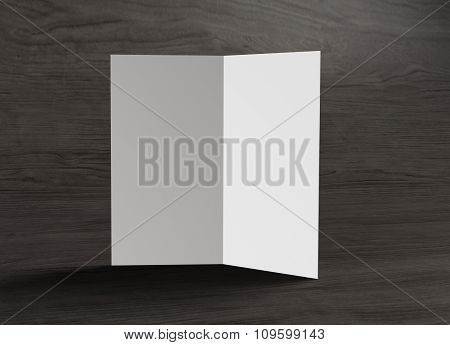 Leaflet Inside Left Page Stand On Table