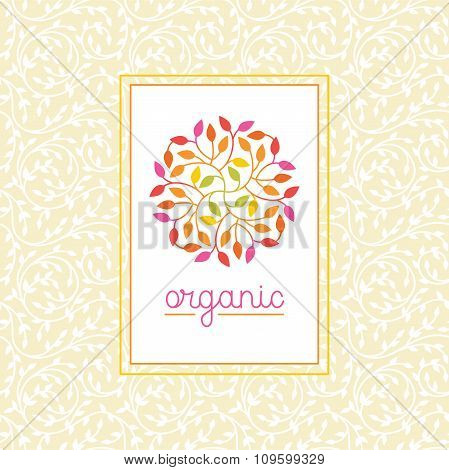 Vector Organic And Natural Emblem