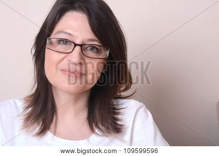 Portrait Of Middle Age Woman