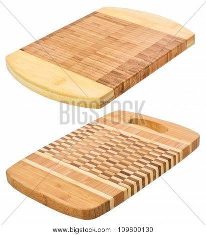 Set Of Two Wooden Cutting Boards.