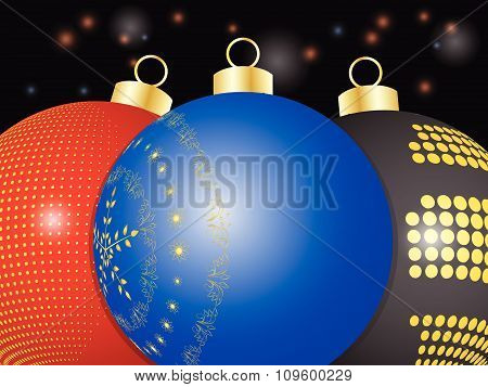 Christmas Baubles Close Up Background