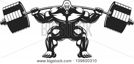 Strong monkey athlete