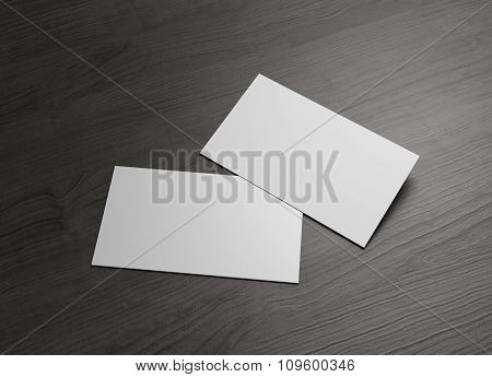 Front Back Business Card On Table