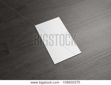 Name Card For Business Presentation Vertical Left