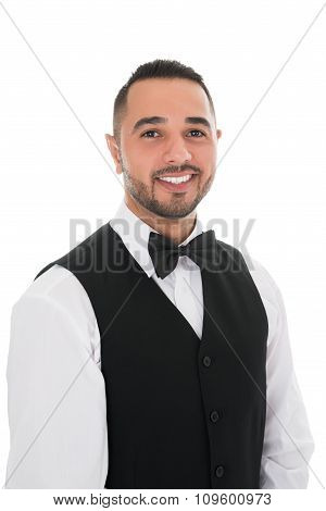 Portrait Of Happy Young Waiter