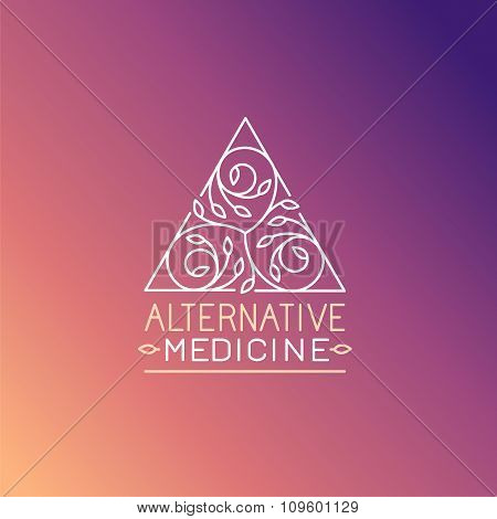 Vector Alternative Medicine Logo Design Template